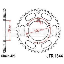 Zębatka tylna stalowa jt r1844-48, 48z, rozmiar 428 2302157 yamaha yzf-r 125