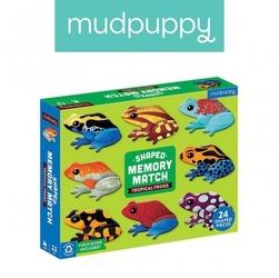 Mudpuppy gra memory tropikalne żaby z elementami w kształcie żab 24 elementy 3-8 lat