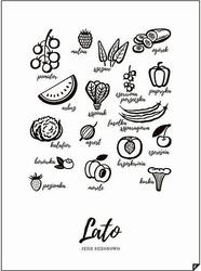Plakat lato - jedz sezonowo 30 x 40 cm