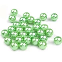 Woskowane perły dekoracyjne 10mm10szt - zielony - ZIEL