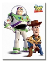 Toy story buzz and woody - obraz na płótnie