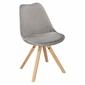 Krzesło norden star square velvet szare - szary
