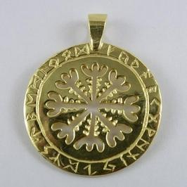 Tarcza algizowa - runiczny krąg ochronny - pozłacany