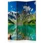 Parawan 3-częściowy - górskie jezioro room dividers