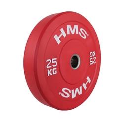 Obciążenie olimpijskie gumowane cbr25 25 kg - hms - 25 kg