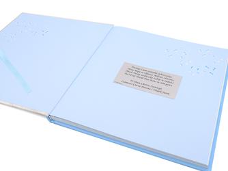 Chłopiec. Album mojego dziecka. Prezent z okazji narodzenia dziecka z GRAWEREM - Niebieski