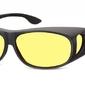 Żółte okulary z polaryzacją hd fit over dla kierowców, nakładane na korekcyjne fo2i