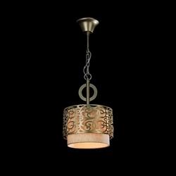 Lampa wisząca ze złotą ramką venera maytoni classic h260-00-n