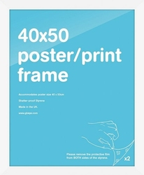 Biała rama 40x50 cm