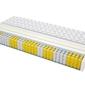 Materac kieszeniowy palermo max plus 155x180 cm średnio twardy visco memory jednostronny