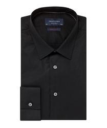 Elegancka czarna koszula męska taliowana super slim fit 46