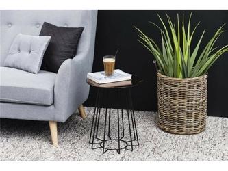 Stolik kawowy casco 1 brązowy szkłometal czarny