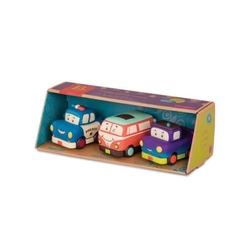 Zestaw 3 mini autek z napędem mini wheeee-ls - z pick-upem b.toys