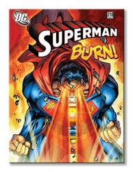 Dc comics superman burn - obraz na płótnie