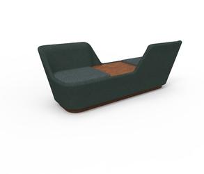 Spell shuffle sofa podwójna wing ze stolikem shuffle-pairwing-oak