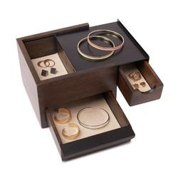 Umbra - pudełko na biżuterię mini stowit - orzech włoski - orzech włoski