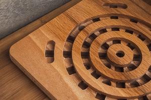 Podstawka pod garnek drewniana 19x19 cm