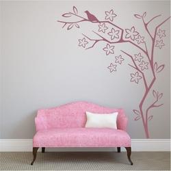 Szablon na ścianę drzewo ptak 2115