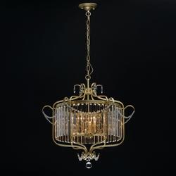 Lampa wisząca glamour złota adele mw-light crystal 373014806
