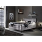 Łóżko tapicerowane vinceza 160x200 cm ze stelażem szare welur