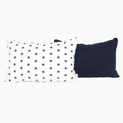 Poduszka dekoracyjna 60x40 - gwiazdki - granatowo - białe