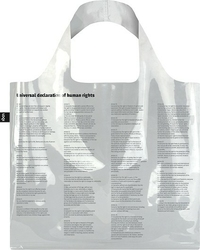 Torba loqi transparent universal declaration of human rights bag