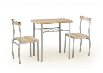 Stół do jadalni lance + 2 krzesła dąb sonoma
