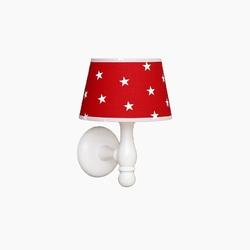 Kinkiet roomee decor - czerwony w białe gwiazdki