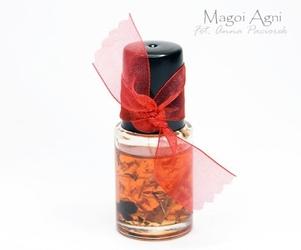 Olejek do namaszczania świec, kamieni, talizmanów czerwony - uniwersalny