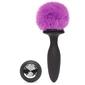 Wibrujący ozdobny korek analny - happy rabbit rechargeable vibrating butt plug black  purple s