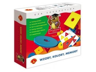 Wzory, kolory, memory gra edukacyjna
