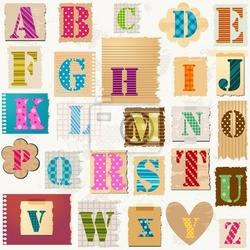 Naklejka teksturowane alfabet
