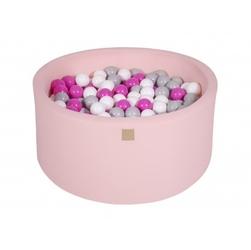 Suchy basen dla dziecka 90x40 cm + 200 piłek - różowy