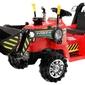 Traktorek koparka dla dzieci na akumulator zp1005 czerwona