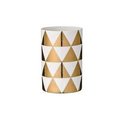 Świecznik na tealight złote trójkąty bloomingville