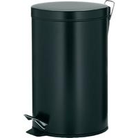 Kosz na śmieci pedałowy, 12 litrowy, kilian kela czarny ke-10931