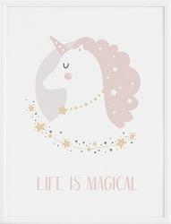 Plakat lady unicorn 50 x 70 cm