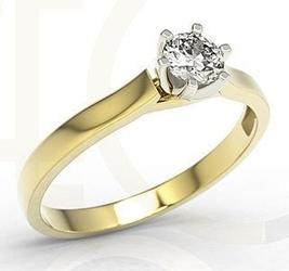 Zestaw: pierścionek, kolczyki i wisiorek z żółtego i białego złota z brylantami lp-8027zb-zest - 1,08 ct