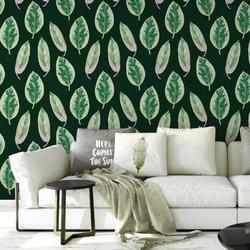 Tapeta na ścianę - elegant leaves , rodzaj - próbka tapety 50x50cm