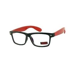 Stylowe czerwone okulary zerówki dr-xl271-c4