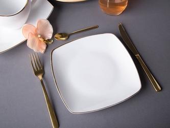 Talerz deserowy porcelana mariapaula moderna gold 20,5 cm kwadratowy