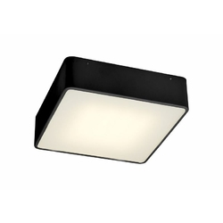 Kaspa - plafon s led - flat - czarny - czarny
