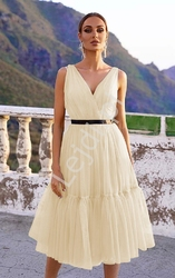 Sukienka na wesele, komunie paris jasny beż