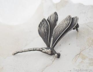 Ważki w locie ii - srebrna broszka