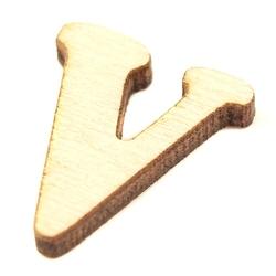 Drewniana literka do rękodzieła - v - v