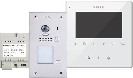 Wideodomofon VIDOS DUO M1022W  S1201A - Szybka dostawa lub możliwość odbioru w 39 miastach