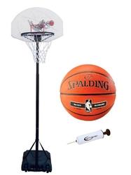 Zestaw kosz do koszykówki spartan mobilny + piłka spalding + pompka