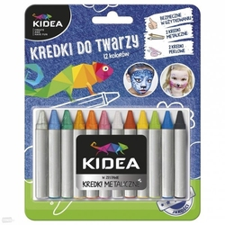Kredki do malowania twarzy - buzi x12 kidea
