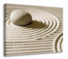 Wzory na piasku II - Obraz na płótnie