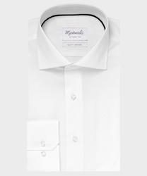 Elegancka biała koszula michaelis z kołnierzem włoskim 45
